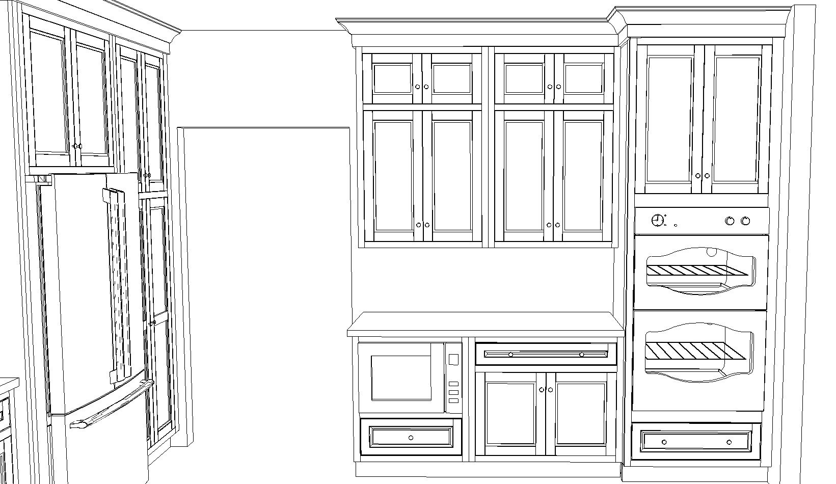 kitchen design sketch sample