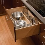 pots and pans storage in kitchen
