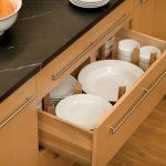 plate cabinet storage in kitchen