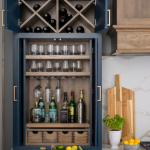 liquor cabinet in new kitchen
