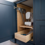 sewing machine storage in kitchen
