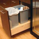 wastbasket storage in remodeled kitchen