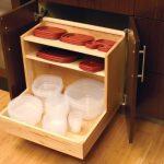 tupperware storage in kitchen