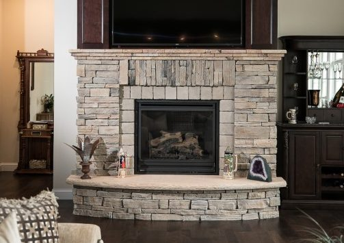 fireplace design by mariotti building products
