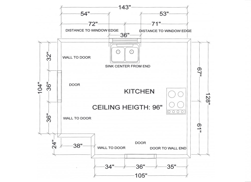 full measuring instructions for kitchen remodel