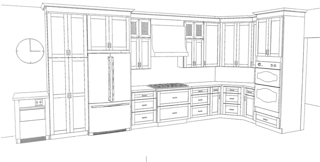 Back Wall Kitchen Rendering