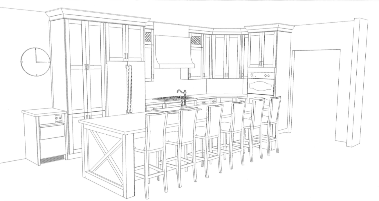 Kitchen Rendering Example