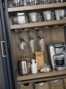 kitchen beverage center cabinet