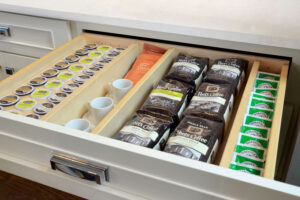 kitchen coffee and tea drawer