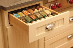 kitchen drawer spice rack