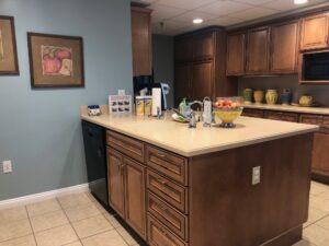 before photo of Ronald McDonald House kitchen island